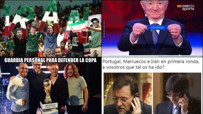 Los memes fichan a Iglesias y sus podemitas para animar a Irán en el Mundial