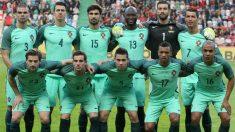 La selección de Portugal, en un partido correspondiente al pasado verano en la Copa Confederaciones.