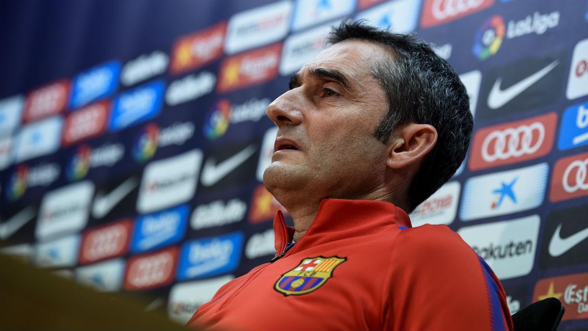 Valverde durante una rueda de prensa. (AFP)