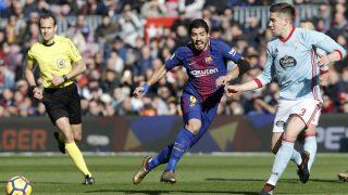 Luis Suárez se reencontró con el gol, pero no fue suficiente para que ganase el Barça. (AFP)