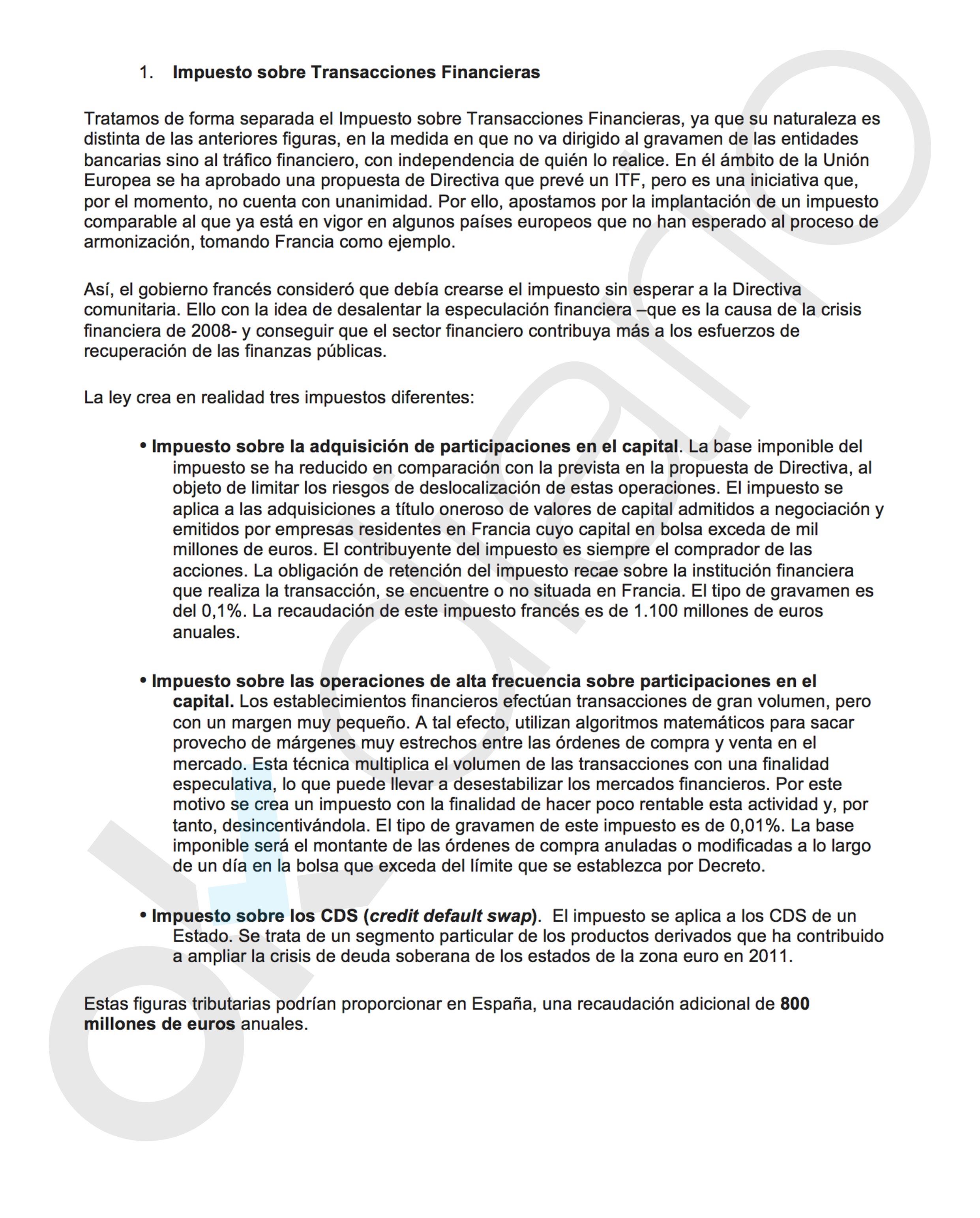 El PSOE freirá a impuestos a quienes inviertan en empresas del IBEX y bancos