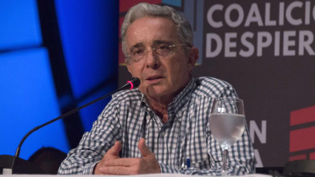El ex presidente de Colombia Álvaro Uribe, durante la convención en Cartagena de Indias.