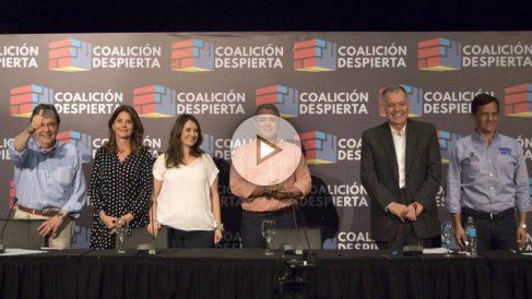 Los precandidatos de la Coalición Despierta, unión de Uribe y Pastrana para las elecciones de Colombia 2018.