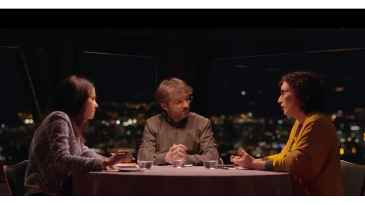 Arrimadas y Rovira, con Jordi Évole, en 'Salvados' (La Sexta)