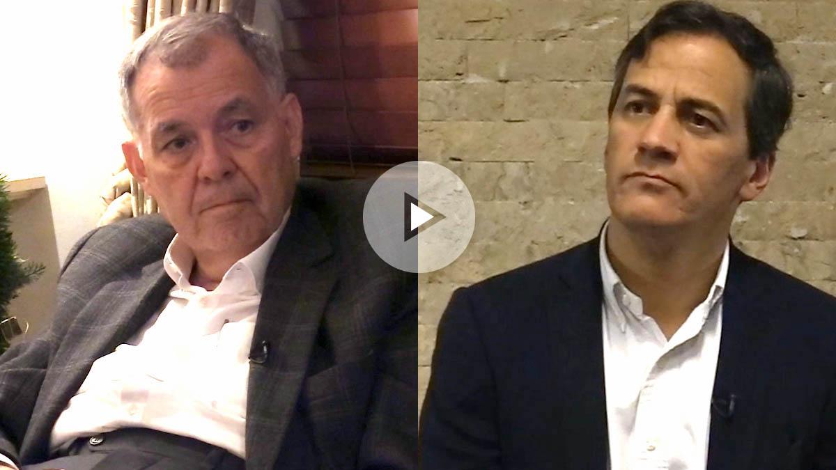 Alejandro Ordóñez y Rafael Nieto, precandidatos a la Presidencia de Colombia. (Vídeo: Enrique Falcón)