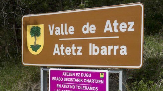 Rótulos de señalización en Navarra en los que a partir del decreto prevalecerá el euskera