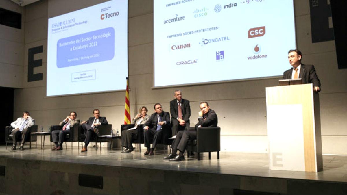 El dirigente del PDeCAT Carles Flamerich, en un acto organizado por su fundación CTecno.