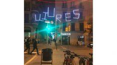 Alumbrado navideño en Barcelona.