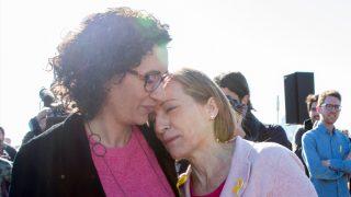 Marta Rovira y Carme Forcadell. (Foto: EFE)