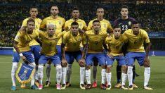 La selección de fútbol de Brasil. (AFP)