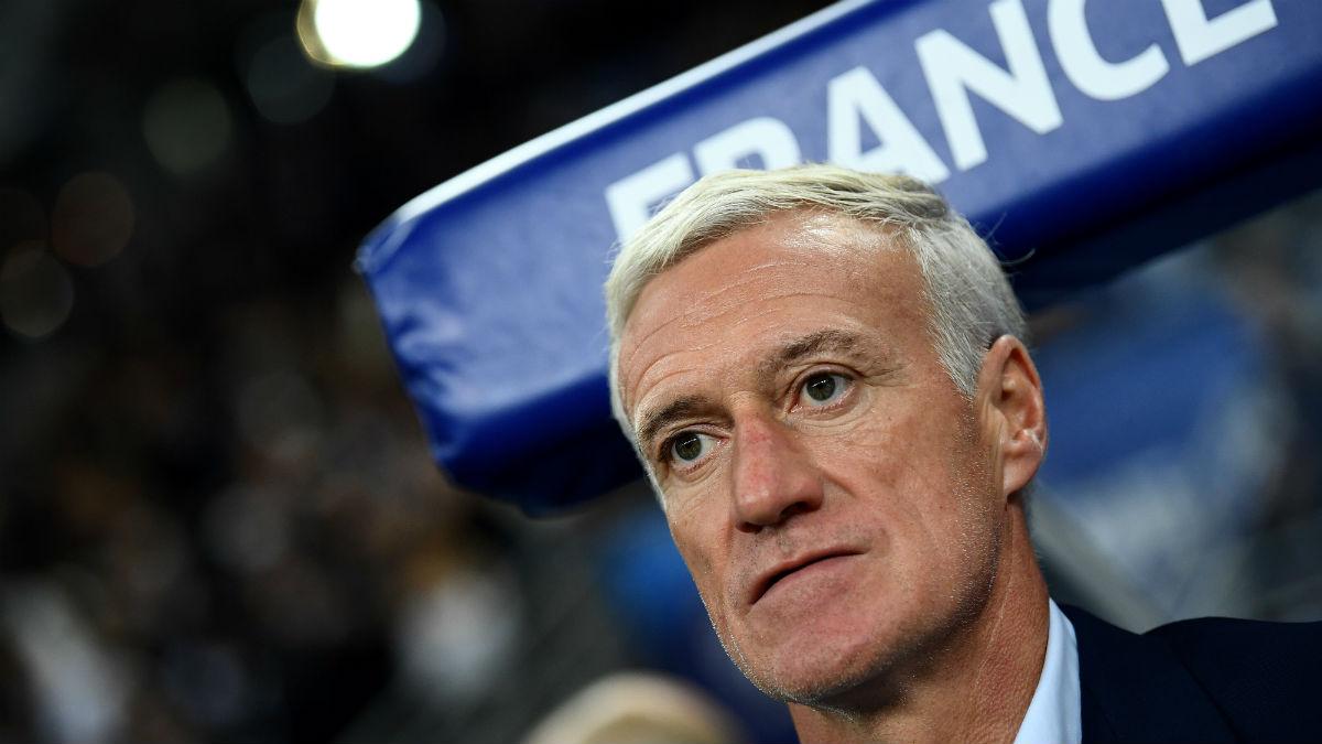 Didier Deschamps, durante un partido