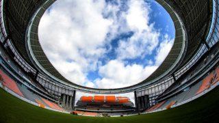 Vista desde el césped del Estadio Central