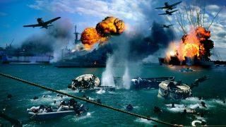 Ataque aeronaval japonés a Pearl Harbour.