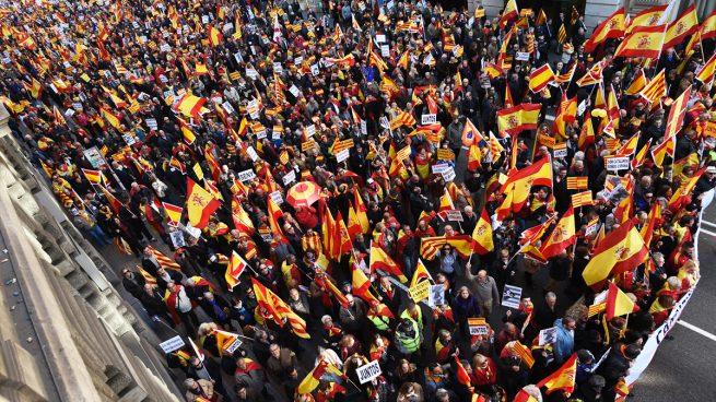 Manifestación en Barcelona el 6-D en defensa y homenaje a la Constitución