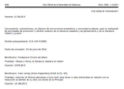 La Generalitat pagó 27.000€ por la difusión europea de la última novela del diputado Lluís Llach