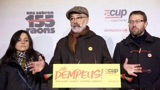 Carles Riera, cabeza de lista de la CUP en las elecciones del 21-D. (Foto: EFE)