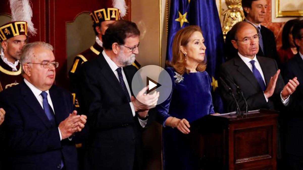 Ana Pastor durante su discurso en el Día de la Constitución. (Foto: EFE)