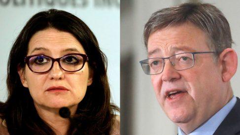 Ximo Puig y Mónica Oltra.