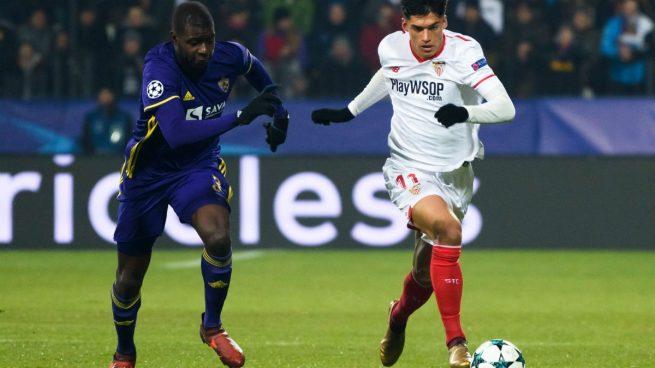 El Sevilla cumple sin brillo y estará en octavos (1-1)