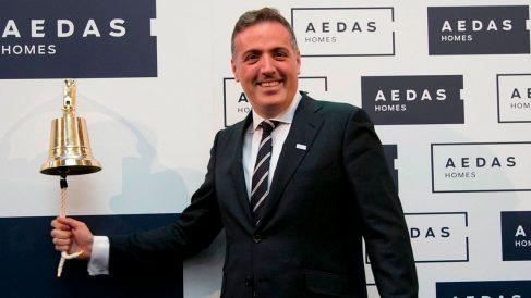 El CEO de AEDAS Homes, David Martínez, en la salida a Bolsa de la compañía.