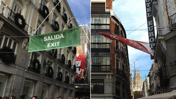 Carmena señaliza las calles de sentido único con dos palabras en inglés y una la escribe mal