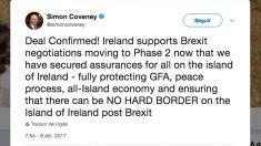 Reacción de Simon Coveney al acuerdo sobre el 'Brexit'.