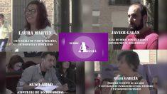 Vídeo de los cuatro concejales de Podemos investigados por corrupción en Alcalá en el que se comparan con el 'Equipo A'