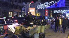 Basura acumulada en las calles de Madrid.