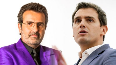 El economista Xavier Sala i Martín y el líder de Ciudadanos, Albert Rivera.