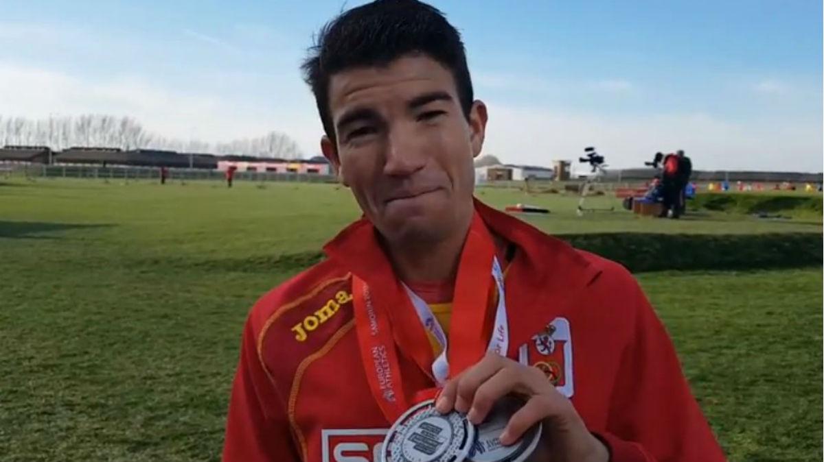 Adel Mechaal, subcampeón de Europa de cross. (CSD)