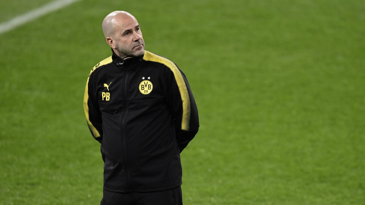 Peter Bosz, destituido como entrenador del Dortmund. (AFP)