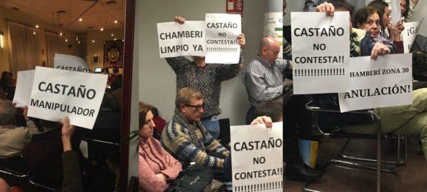 Los vecinos abroncan al edil de Carmena en Chamberí que insiste en peatonalizar más calles
