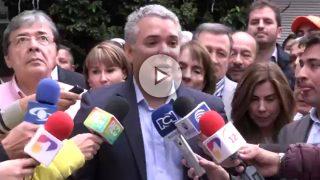 Iván Duque acepta su nominación como candidato del Centro Democrático (CD) para la Presidencia de Colombia.