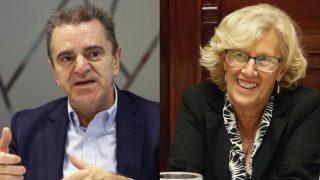 José Manuel Franco, líder del PSOE de Madrid, y Manuela Carmena, alcaldesa.  (Fotos: EFE / Madrid)