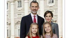 La felicitación de Navidad 2017 de los Reyes, la Princesa Leonor y la Infanta Sofía.