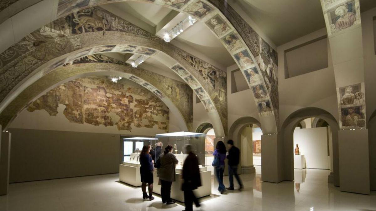 La sala del museo de Lérida donde, hasta hoy, se exponían los bienes de SIjena.