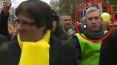 El mosso juzgado por corrupción de menores y condenado por extorsión en 2011 escoltando a Puigdemont en Bruselas