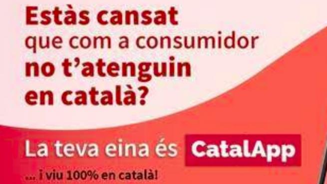 La aplicación que elabora la lista de comercios que llevarán la pegatina de si atienden o no en catalán