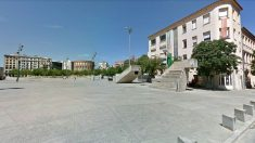 Plaza de la Constitución, en Gerona.