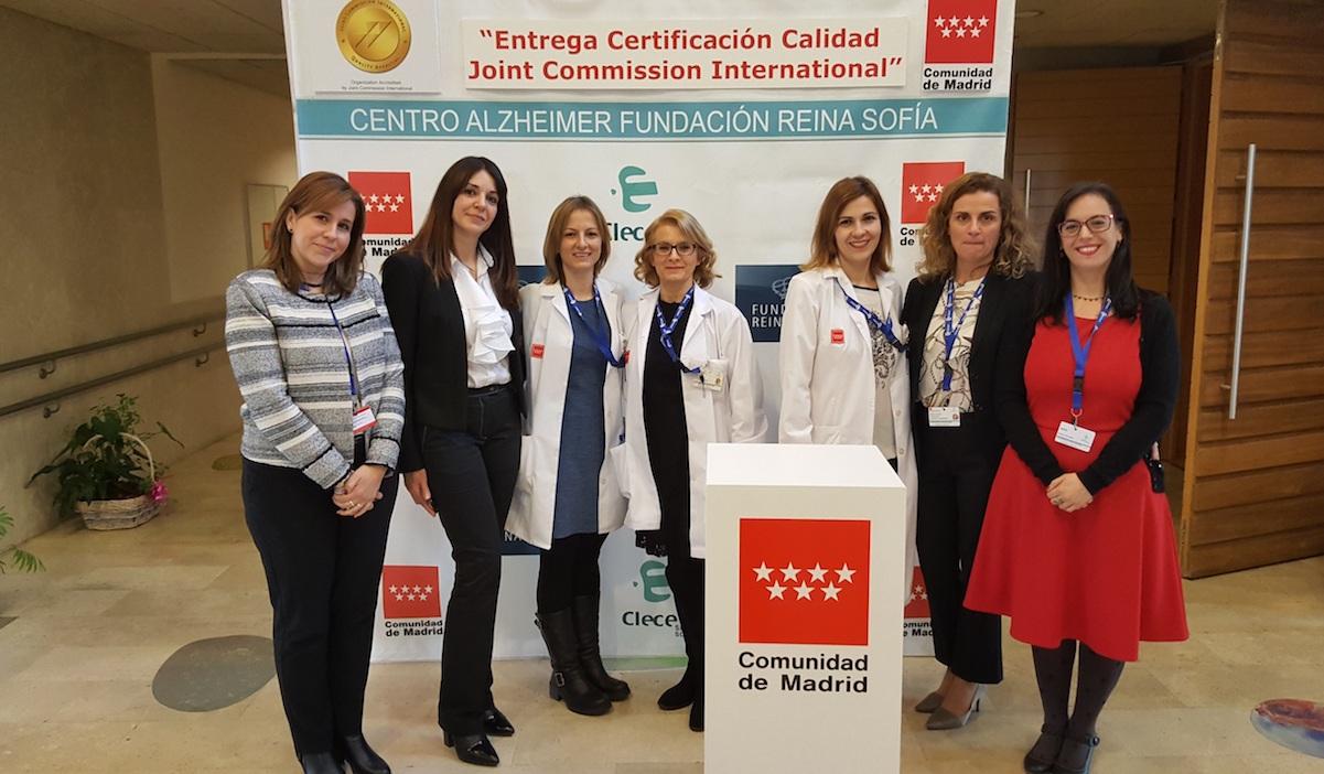 Parte del equipo del Centro Alzheimer Fundación Reina Sofía.