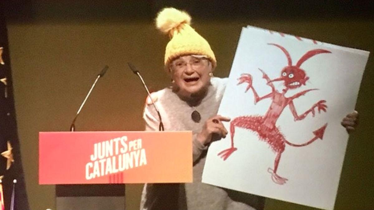 Pilarín Bayés, dibujante y número 84 en las listas de Junts per Catalunya (JxCat) por Barcelona