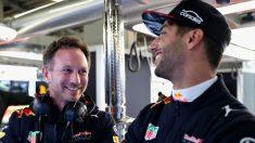 Christian Horner espera que Daniel Ricciardo acabe renovando por Red Bull, aunque reconoce que no le esperarán eternamente. (Getty)