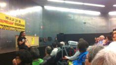Rodrigo Lanza en una charla apoyada por Podemos