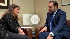 José Luis Ábalos, durante la entrevista con OKDIARIO. (Foto y Vídeo: F. Toledo y E. Falcón)