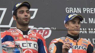 Danilo Petrucci ha reconocido que Marc Márquez es, actualmente, el mejor piloto de MotoGP tras las luchas que ha mantenido con él esta temporada. (Getty)