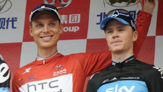 Martin y Froome, en el podio. (AFP)