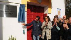 La alcaldesa Ana Botella inaugurando una sala de la Escuela de Tauromaquia. (Foto: Madrid)