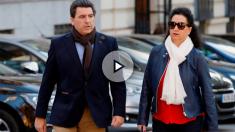 David Marjaliza y su secretaria Ana Ramírez en la Audiencia Nacional.
