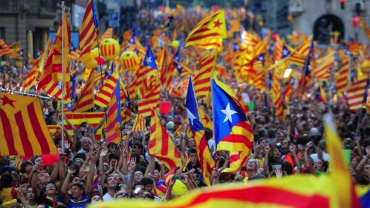Manifestación en Cataluña en 2017.