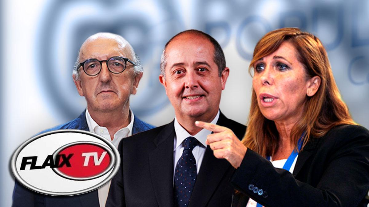 El millonario Jaume Roures, el ex conseller Felip Puig y Alicia Sánchez Camacho.